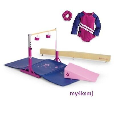 American Girl BALANCE BEAM SET + GYMNASTICS OUTFIT ships SAME DAY Doll NOT incl