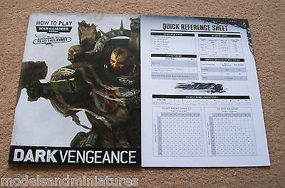 WARHAMMER 40K DARK VENGEANCE How to Play Booklet Codex and Quick Reference Sheet