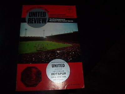 man utd v tottenham 12/8/1967 charity shield