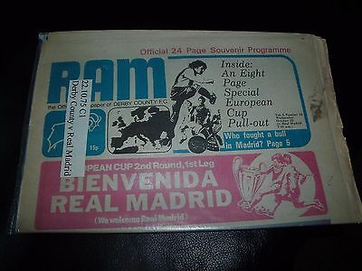 derby county v real madrid 22/10/1975 european cup