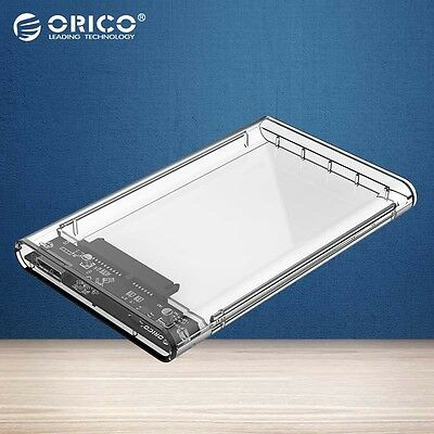 Transparent HDD Case 2.5 inch USB3.0 to Sata 3.0 5 Gbps 2TB UASP Hard Drive
