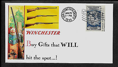 1935 Winchester Featured on Xmas Collector's Envelope *220