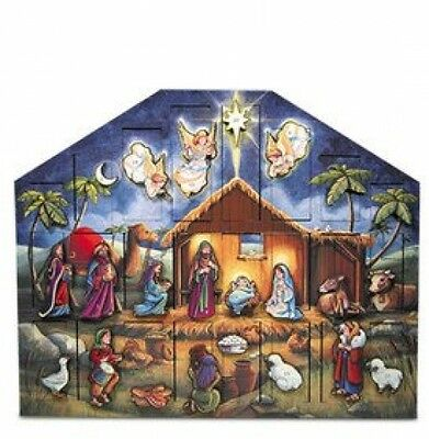 Nativity Advent Calendar features beautiful nativity scene with detailed figures