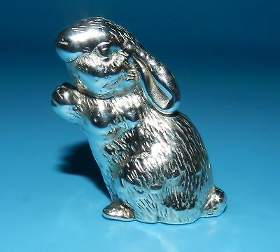Beautiful STERLING Silver 925 MARKED BUNNY RABBIT FIGURINE