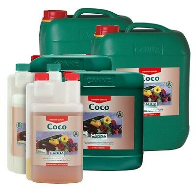 Canna COCO A+B Veg & Flower Plant Food Base Nutrients 1, 5 and 10 Litres Sizes