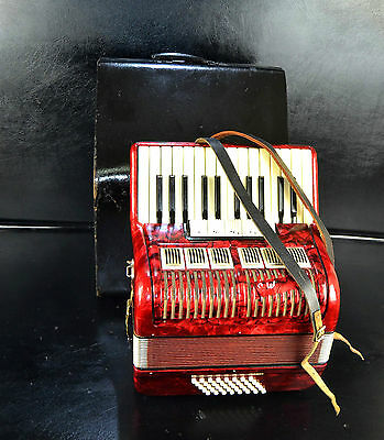 Vintage Top German Piano Accordion Weltmeister -40 Bass, 5 Sw.@petrof Musicstore