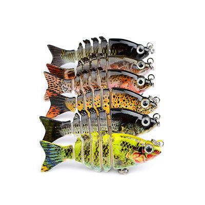 6pcs/Lot Mini Swimbaits Fishing Lures Swimbait Plastic Bait Bass Tackle 5cm 2.3g