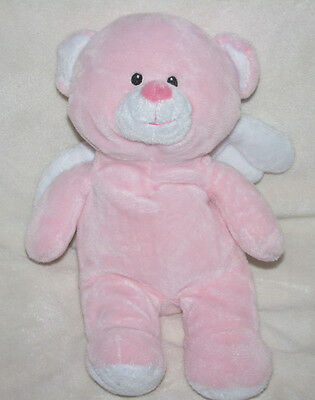 Ty 2011 Pluffies Pink Teddy Bear Wings Little Angel Stuffed Animal Plush Toy 11""