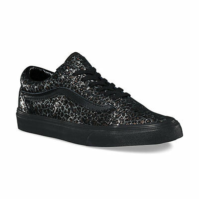 VANS OLD SKOOL LEOPARD Womens Shoes (NEW) Size 7 BLACK