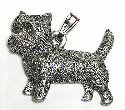 Cairn Terrier  Dog Pendant Dog Harris Fine Pewter Made in USA jewelry
