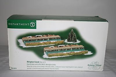New in Box NIB Department 56 Dickens Village Abington Canal (Set of 2) 58535