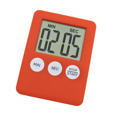 Digital Timer Square Large LCD Kitchen Sport Alarm With Magnet White. 0244