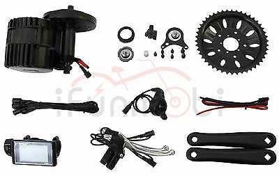Bafang/8Fun 48V 1000W BBS03 BBSHD Mid-Drive Motor Kits For E-Bike With LCD Panel