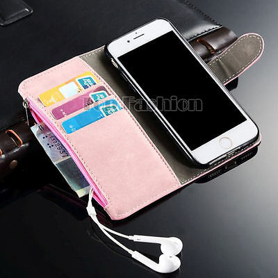 Luxury Vintage Magnetic Flip Leather Case Stand Cover For Apple iPhone Models
