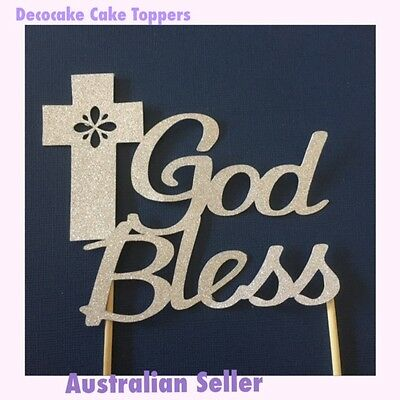 Religious Cake Toppers Baptism, Communion, Confirmation Australian Seller