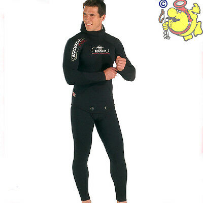 BEUCHAT muta mm.7  MUNDIAL COMPETITION GIACCA+PANTALONE SPACCATO INTERNO TG.2/S