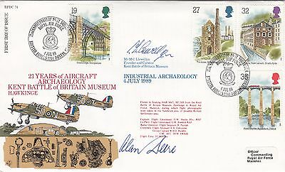 RAF Flown FDC Signed by  Alan Deere, Battle of Britain & WWII Fighter Ace