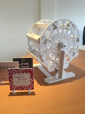 Candy Cart Ferris Wheel,New,Flatpack,45cm High. 3x Free Candy Cart Signs