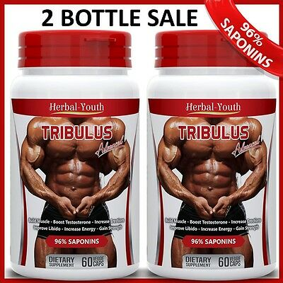 Tribulus Terrestris Pills Extract 96% Saponins Testosterone Muscle Booster Caps