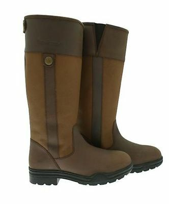 Clearance! Leather London Horse Riding Yard Country Boots Sizes 3 - 8 - Free P&p