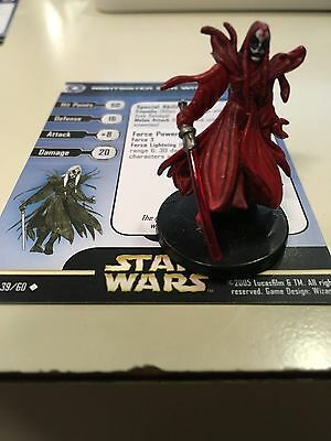 Star Wars Miniatures Nightsister Sith Witch 39/60 With Card Free Shipping