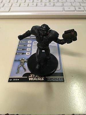 Star Wars Miniatures Dark Trooper Phase Iii 36/60 With Card Free Shipping