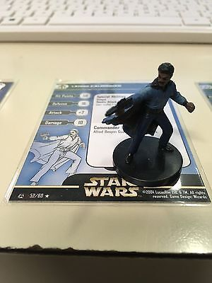 Star Wars Miniatures Lando Calrissian 52/60 With Card Free Shipping
