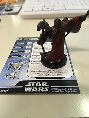Star Wars Miniatures Mandalore The Indomitable 55/60 With Card Free Shipping