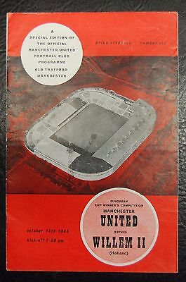 Manchester United  V  Willem Ii  Ecwc  1963/64  Official Programme