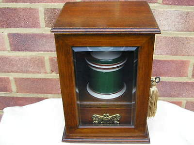 Complete 1890 Victorian Solid Oak Cabinet Pipe Display Box Coronation Pipe Bowl.