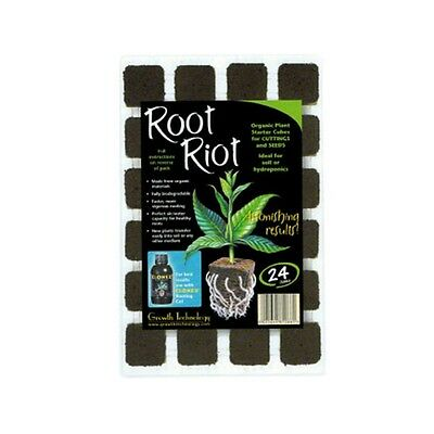 Growth Technology Root Riot Propagation Plant Starter Cubes Tray 24 / Refill