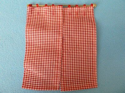 Dolls House Emporium Miniature 1:12 Scale Kitchen Red Gingham Curtains (5773)