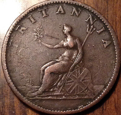1807 Uk Gb Half Penny In Good Condition !