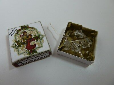 Dolls House Miniature 1:12 Scale Christmas Handcrafted Clear Baubles in Box