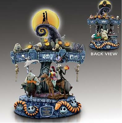 The Nightmare Before Christmas Musical Carousel Jack & Sally Oogie ~