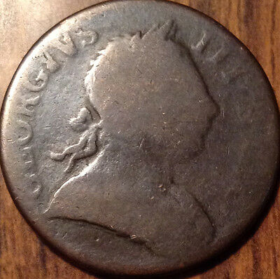 1772 Uk Half Penny In Good Condition !