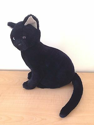 "Applause Black Cat Stuffed VTG 1988 Creepy Large 12"" Sitting Plush 80s Toy Bravo"