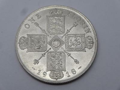 ***1918 Solid Silver One Florin George V Coin (316)***