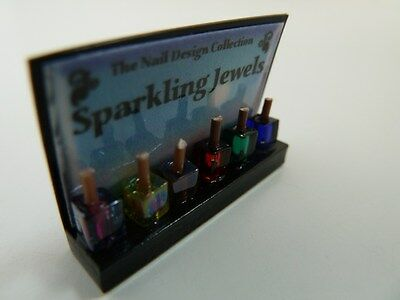 Dolls House Miniature 1:12 Scale Shop Nail Varnish Display