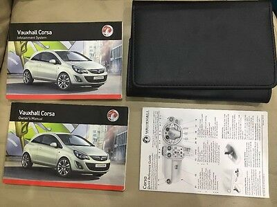 vauxhall corsa owners manual Handbook 2011-2015