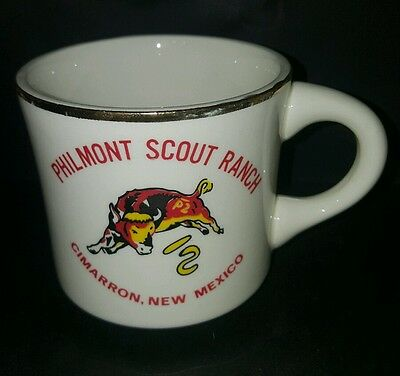 Vtg BSA Philmont Scout Ranch Cimarron NM with Bull Boy Scout Coffee Cup