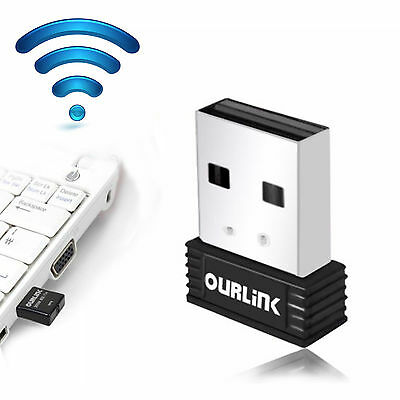 Mini 150Mbps USB 2.4GHz Dual Band Wireless WiFi Adapter 802.11AC Dongle