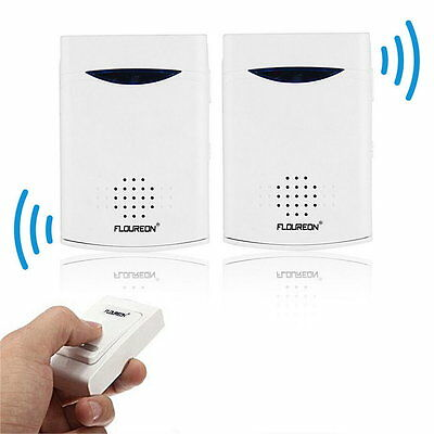 Brand New Portable Twin Pack Wireless Cordless Door Bell Chime 100M Range F#