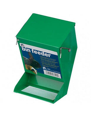 Prevue Pet Products Metal mesh bottom Bin Feeder Green 3.875L x 4.75W x 7.125H""