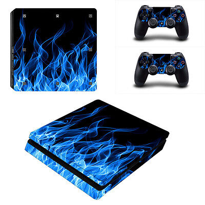 Wrap Sticker Skin Decal for Playstation 4 Slim PS4 Slim Console&Controllers #108
