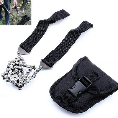 Durable Hiking Travel Survival Self Help Hand Tool Pocket Chain Saw ChainSaw WD