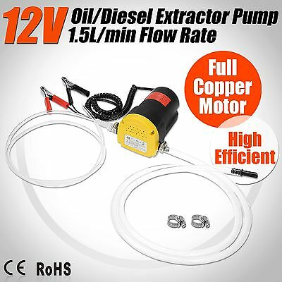 12V Transfer Pump Extractor Oil Fluid Diesel Electric 60w Siphon Car Bike New AY