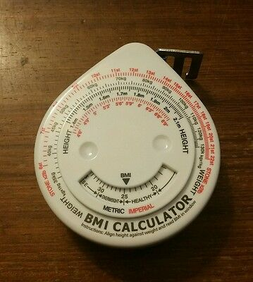 BMI Calculator and Retractable Tape Measure (Diet/Weight Loss Aid)