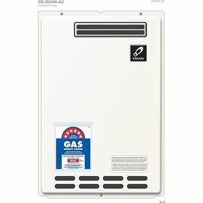TAKAGI 26L 6STAR LPG Instantaneous Gas Hot Water Heater replace Rinnai Bosch Dux
