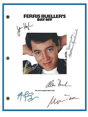 Ferris Bueller's Day Off Movie Script Signed Rpt Matthew Broderick  John Hughes